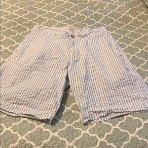 Washed Stoned and Beaten seersucker shorts